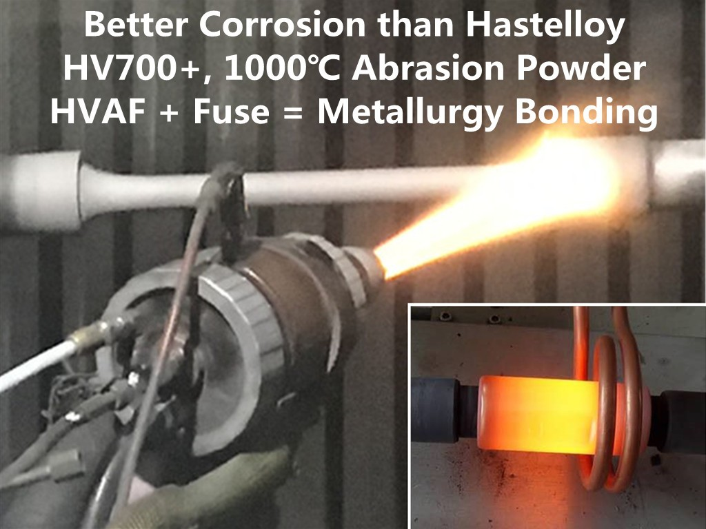 AMTmetalTech HVOF or HVAF Thermal Spraying and Fuse Sucker Rod Coupling